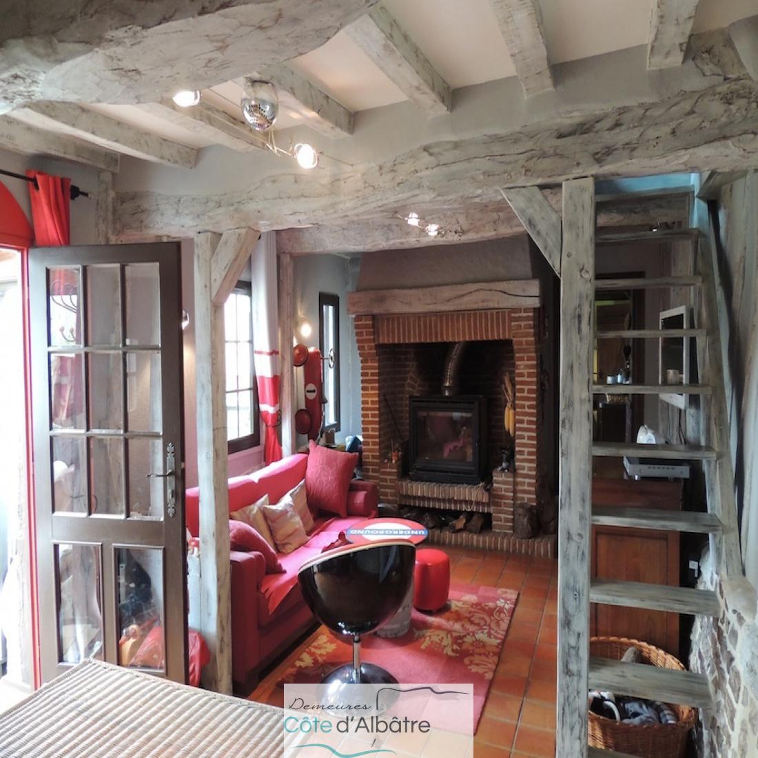 séjour/salon avec cheminée